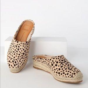 Lulu's Dolce Vita Brandi Leopard Espadrille Slides
